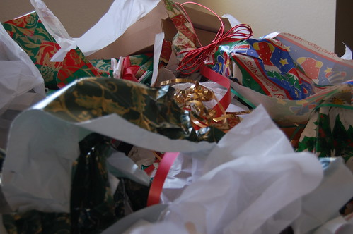 Wrapping Paper Trash