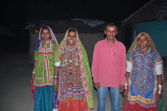 community radio producer in kutch and his family