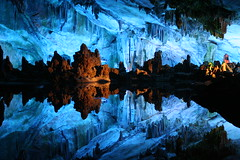 Mirroring in water, Reed Flute Cave (daisybj) Tags: china travel nature landscape 350d asia guilin cave    guangxi    reedflutecave 230countriesyourcountry  sigma1770mm flickrspecial  aplusphoto platinumheartaward ludicave