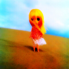 planet of the blythes - film version - (takahito@japan) Tags: portrait film sand doll kodak dune hasselblad  blythe  portra sandhill tottori ih ueda  shouji