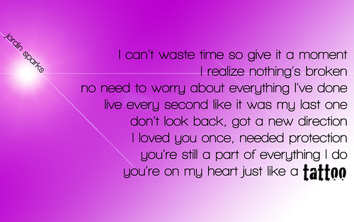 metrolyrics Jordin Sparks Tattoo Lyrics - FOXJR.COM VIDEOS PICTURES Jordin