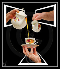 Tea Time (F-2) Tags: white black cup digital canon hand tea drink fluid adobe frame jug teapot 5d canon5d dslr pour saucer outofbounds oob manipulate 333views blueribbonwinner canoneos5d eos5d supershot 100faves 35faves golddragon mywinner abigfave platinumphoto anawesomeshot photoshopcs3 superbmasterpiece diamondclassphotographer flickrdiamond megashot bratanesque ysplix excellentphotographerawards ilovemypic theunforgettablepictures 75faves brillianteyejewel eliteimages flickrslegend betterthangood proudshopper theperfectphotographer goldstaraward