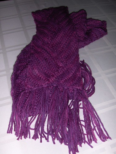Short Row Ribbed Scarf #2