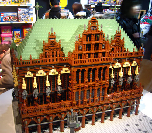 LEGO Town Hall and Roland on the Marketplace of Bremen