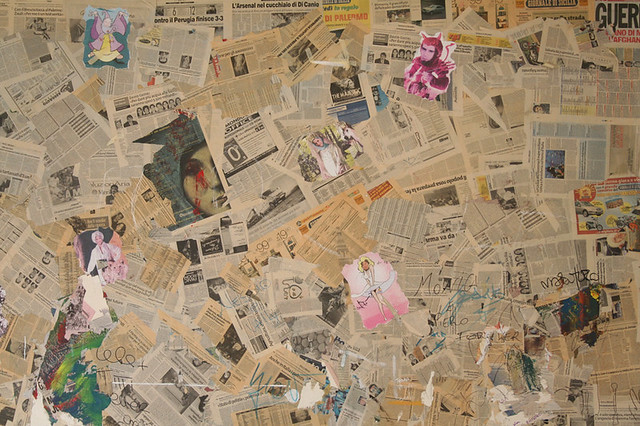newspaper collage