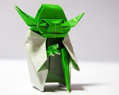 """""""YODA's origami you must fold."""" (Yamaggio ) Tags: star nikon origami yoda wars kawahata fumiaki d40x yamaggio"""