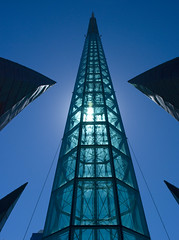 Swan Bell spire (Nikonsnapper) Tags: blue sky sun tower glass swan perth swanbells bellringing mywinners nikond80 theloveshack australia2008 project3662008march nikonsnapper exploremarch292008230