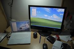 Windows on my Mac (dswilliams) Tags: windows apple macintosh mac flat screen lg monitor xp macbook m228wa
