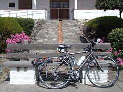 My bike in front of Mission San Jose in Fremont