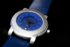 Blue and Silver Watch
