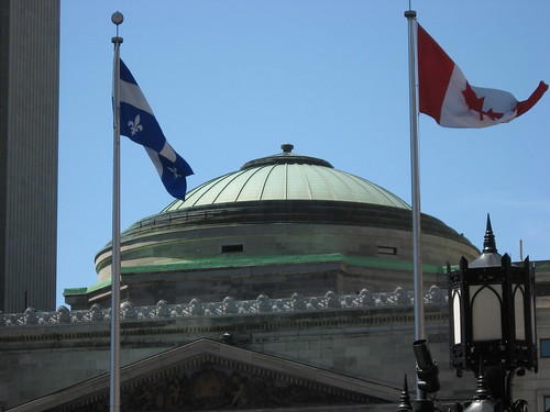 Vieux Montreal Flags
