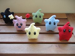 Complete Luma Collection (t0fugurl) Tags: toy crochet nintendo mario plush kawaii videogame etsy amigurumi luma
