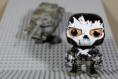 Crossbones doesn't like the feeling of a tank bearing down on him. (MuTant 99) Tags: home toy funkopop doll crossbones olympusomdm10mkii