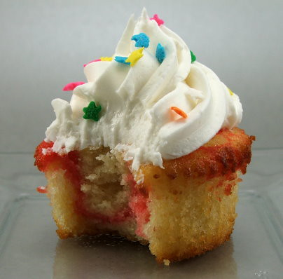 Raspberry Chipotle Swirl Cupcakes