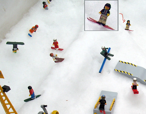 Custom minifig ski park