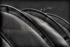 The Armadillo, Glasgow (DaveWilsonPhotography) Tags: uk monochrome architecture scotland glasgow explore secc armadillo hdr scottishexhibitionandconferencecentre photomatix 3exp cooliris