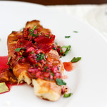 Prosciutto-Wrapped Tilapia with Blood Orange Salsa