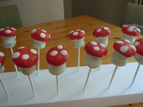 Mushroom cake pops by h. donohue