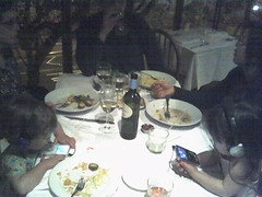 Dinner with Toddlers - Zuni and iPods (moyalynne) Tags: dinner lucy ipod olivia zuni