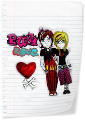 <3 (S) Tags: black love hair scrapbooking paper punk heart drawing drawings bones rockon crossed hotpink