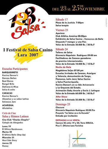 I Festival de salsa Casino Lara 2007