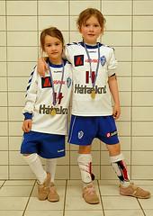 Systur með medalíur eftir mótið