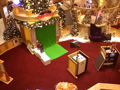 """Fred Claus"" area at the mall"