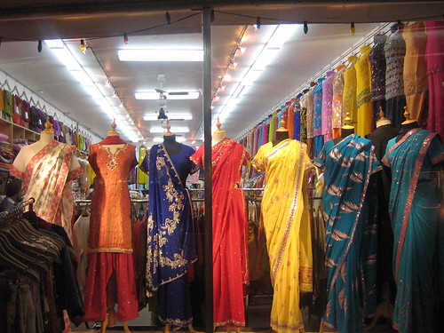 Saris in window display