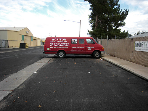horizon carpet, upholstery, tile & grout cleaners van
