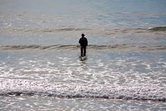 Fisherman on Beach (Kurt Preissler) Tags: ocean california people beach strand coast fisherman pacific shoreline pch highway1 oceanside shore coastline seashore venturacounty waterside lamer dasmeer canoneos5d kurtpreissler preisslermediaservices