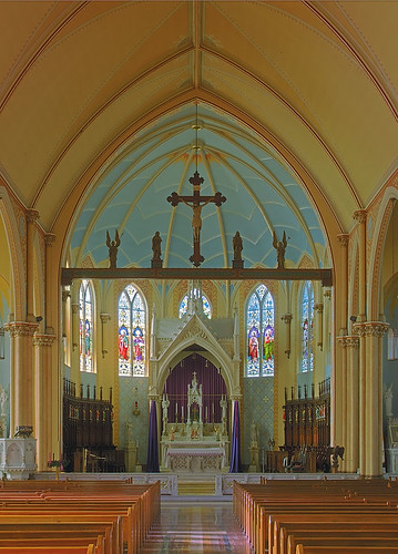 Sainte Genevieve Roman Catholic Church, in Sainte Genevieve, Missouri, USA - sanctuary
