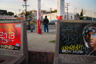 TAGGED WORLD 4, Sunset Blvd and Alvarado, Los Angeles, California