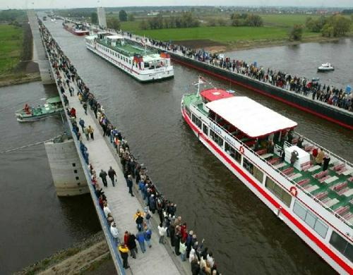 Magdeburg Water Bridge, Magdeburg