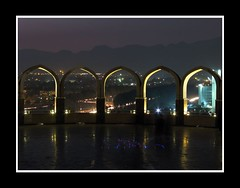 Islamabad (M. Asif - AWAY !) Tags: blue light mountains reflection monument night dark evening view national archs ppo islamabad margalla shakarparian mywinners masif canonpowershots5is adbp pakistaniphotographersorganization