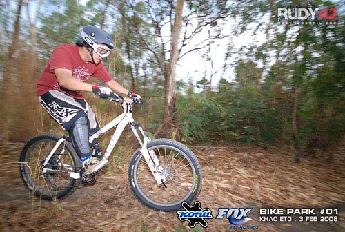 my first downhill racing
