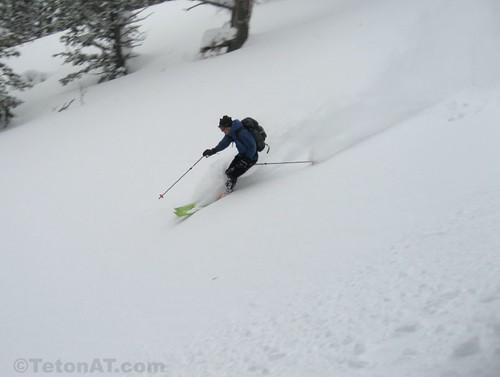Laddie skis the cream
