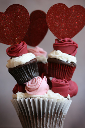 Towering Rose Cupcakes