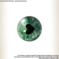 Free Valentine Eye Texture - Heart Shaped Pupil