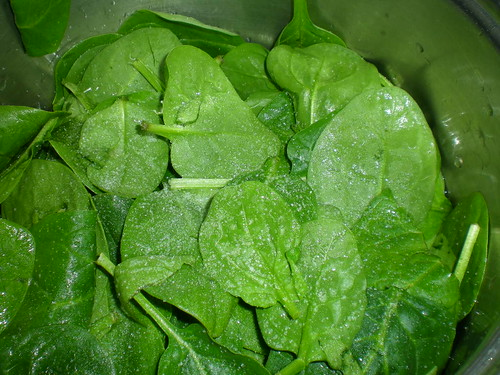 Spinach ready for cooking