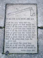 If All the Seas Were One Sea (missjenn) Tags: seattle sea poem alki axe mothergoose