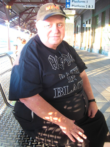 Rick at the Fremantle Train station