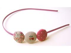 Pink Buttons Headband