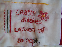 crafty daisy, lesson 1