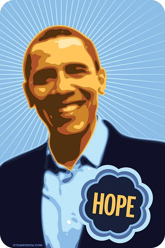 Barack Obama Campaign Poster Illustration