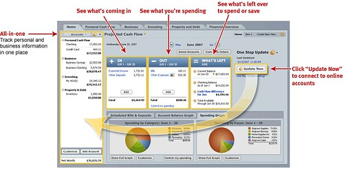 Quicken Home & Business 2008: Manage both your personal and business finances together in one place by Quicken Online