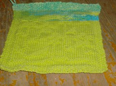 Springing Up Flowers Dishcloth