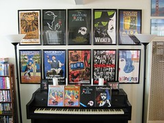 Broadway Posters (Kristin&Joe) Tags: chicago theater theatre piano wicked shows plays rent hairspray sheetmusic musicals aida beautyandthebeast signatures autographs thephantomoftheopera thelionking fiddlerontheroof lesmiserables playbills dirtyrottenscoundrels harveyfierstein broadwayposters