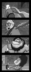 Kind Monster: 2 (Alex True) Tags: bw monster night photoshop comics israel comix granny steet ramatgan shenkar