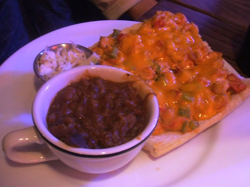 Po boy and bbq beans