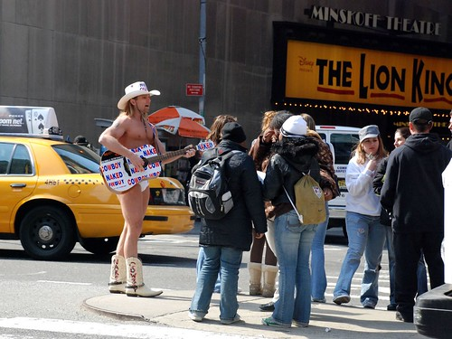 The Naked Cowboy of Times Square
